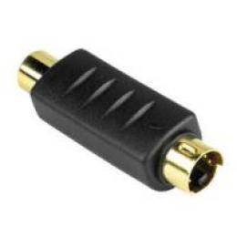 S-video vidlice - Cinch zásuvka, redukce, pozlacené konektory - zvětšit obrázek