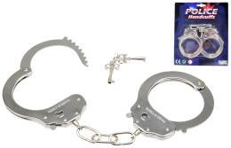 Pouta policejní kovová na kartě Set 2 klíčky OCEL - zvětšit obrázek
