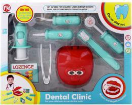 Zubní ordinace doktorský set dětské lékařeké potřeby 8ks plast v krabici - zvětšit obrázek