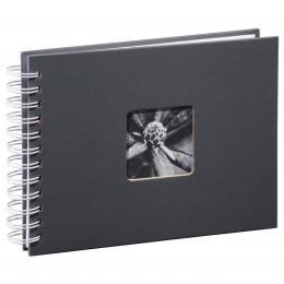 Hama album klasické spirálové FINE ART 24x17 cm, 50 stran, šedé, bílé listy - zvětšit obrázek