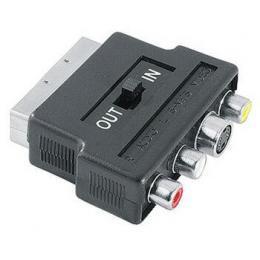 Hama SCART vidlice - 3 cinch S-video redukce, IN/OUT přepínač, sáček - zvětšit obrázek