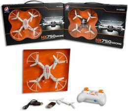 Dron HX750 s kamerou a foťákem 17cm na dálkové ovládání 2,4GHz USB 2 barvy - zvětšit obrázek